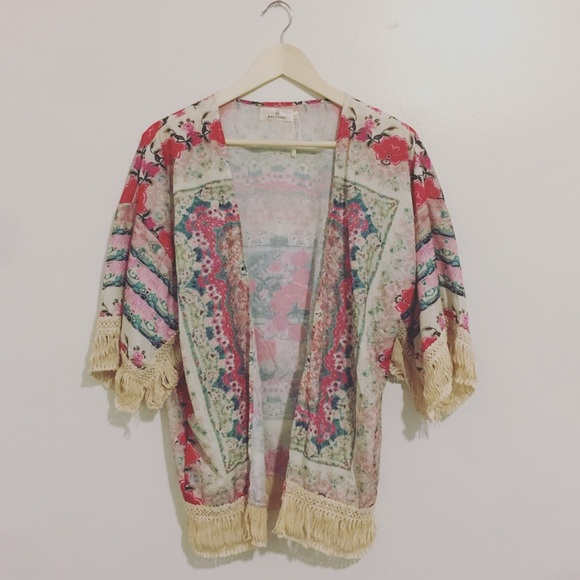 cc60c3fd7f7 66% off baluoke Tops Boho Cardigan Swimsuit Cover Womens Floral ...